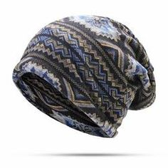 eee6aa7e518 Men Waves Print Beanies Casual Windproof Warm Scarf Bonnet Hats Hats  Online