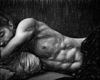 Drawing, Sleeping Lad.  #sleep #lad #abs #gay