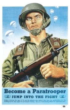 WW2 US Army Airborne Paratrooper Recruiting Poster