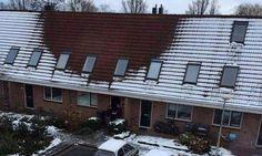 Falta de neve no telhado 'denuncia' plantações de maconha em casas na Holanda +http://brml.co/1KJCSdv
