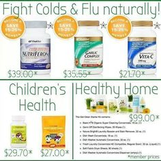 Natural cold and flu package! Www.katieodom.myshaklee.com