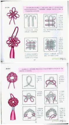 Excellent Free of Charge Macrame Knots diy Ideas Makramee-Knotenbindung – viele Verwendungszwecke. Macrame knot tying – many uses. Makramee-K Macrame Knots, Micro Macrame, Macrame Jewelry, Chinese Crafts, Bracelet Knots, Macrame Projects, Macrame Tutorial, Macrame Patterns, Tie Knots