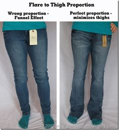 How to find the right jeans for your body type.  Subject D Front 2