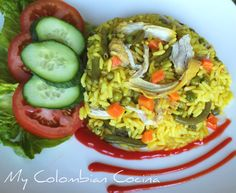 Arroz con Pollo or Rice with Colombian Dishes, Colombian Food, Colombian Recipes, Wine Recipes, Cooking Recipes, Comida Latina, Gluten Free Cooking, Holiday Dinner, Learn To Cook