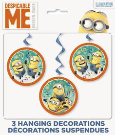 Despicable Me Minions Hanging Swirl Decorations