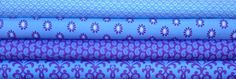 Joyful Purple/Lavender & Blue Bundle by Quilted by FabricWhimsyToo