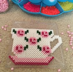 Perler Beads Tea Coaster