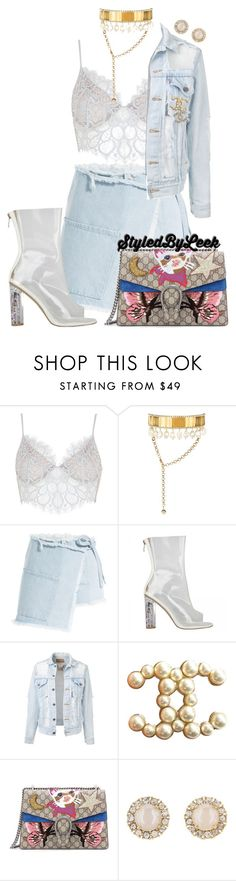 """""""5ThGenerationFashion.Tumblr.Com"""" by stylebywho ❤ liked on Polyvore featuring For Love & Lemons, Shourouk, Sandy Liang, Chanel, Gucci and Kate Spade"""