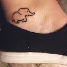 Image result for small tattoos ankle elephant
