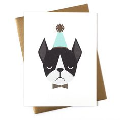Frenchie Birthday Card: Love the attitude! #Birthday #Cards #Distinguished_Dogs