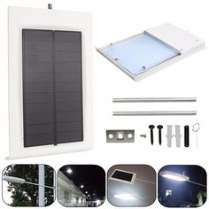 Solar Powered 15LED Outdoor Waterproof Light Control Security Wall Light