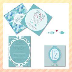 """Papelería de boda """"Mediterrani"""" www.encunclip.com Minutas, números de mesa, seating plan. Wedding"""