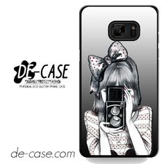Girl With Black Noir Camera DEAL-4692 Samsung Phonecase Cover For Samsung Galaxy Note 7