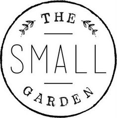 The Small Garden logo by Kathryn Whyte. Sweet and hand-drawn.