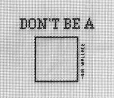 Don't Be Square Pulp Fiction Crossstitch by 3DRD on Etsy