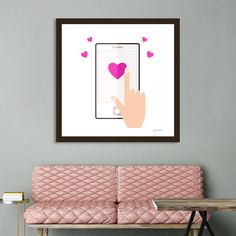 «New heart shaped art / mobile Device New Heart, All Print, Metal Art, Fine Art Paper, Heart Shapes, Original Paintings, Art Gallery, Bee, Authenticity