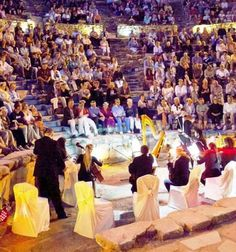 Concert at the Greco-Roman theater in the World Heritage site Ephesus as part of the  Azamara Cruises Azamazing evenings #complimentaryspecialevent