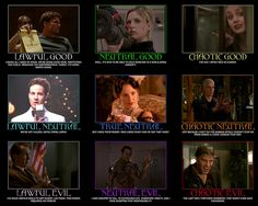 Buffy The Vampire Slayer: Character Alignment Chart Nerd Love, Good And Evil, Joss Whedon, Buffy The Vampire Slayer, First Girl, Our Lady, Looks Cool, Best Tv, Dungeons And Dragons