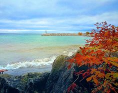Photographed from the harbour in Meaford on the shores of Georgian Bay, Lake Huron in Ontario Canada