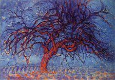 Mondrian l'arbre rouge, 1909