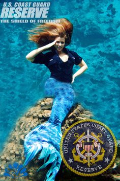Coast Guard Day is held every August 4 to commemorate the founding of the United States Coast Guard, and our very own Mermaid Shannon serves in the United States Coast Guard Reserve. In this image, Mermaid Shannon shows her appreciation to her fellow service men and women who serve in all branches of the U.S. Coast Guard. Thank you all for your service!