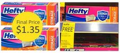 Hefty One Zip Bags, Only $1.35 at Walgreens!