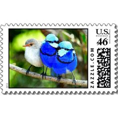 Birds Postage - Make each letter a special delivery! Put a personal touch on your mail, or share this useful gift with friends and family. Fits especially well on greeting card or RSVP envelopes.