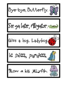 Good, interactive visuals to help kids recognize rhythm and patterns. Say a different one each time? Or recite all of them together.