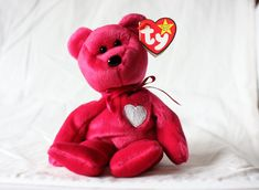 272d8225a51f65 Valentina Beanie Baby with Errors Spelling Error on Valentina Beanie Baby  Ty Beanie Babies Ty Beanie Baby Mint Valentina Rare Vintage Plush