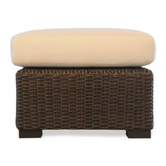 Lloyd Flanders Mesa Ottoman with Cushion Fabric: Wild Rosette, Acrylic