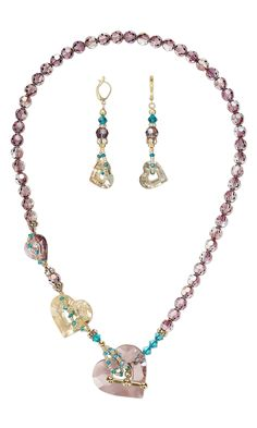 Jewelry Design - Single-Strand Necklace and Earring Set with Swarovski Crystal and Seed Beads - Fire Mountain Gems and Beads