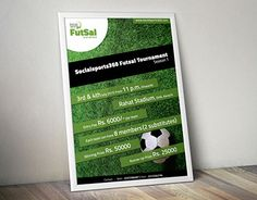 """Poster Design for """"Social Sports : FutSal New Work, Behance, Posters, Gallery, Check, Sports, Design, Hs Sports, Roof Rack"""