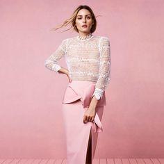 Olivia Palermo style Coast Lui Blush Bow Pencil Skirt