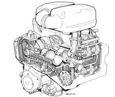 BMW K75 Engine Cutaway
