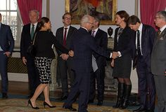 Royals & Fashion - Princess Victoria participated in two acts with King Carl Gustaf at the Royal Palace in Stockholm. They first attended a council on foreign affairs and met during a hearing, the justice minister and migration.