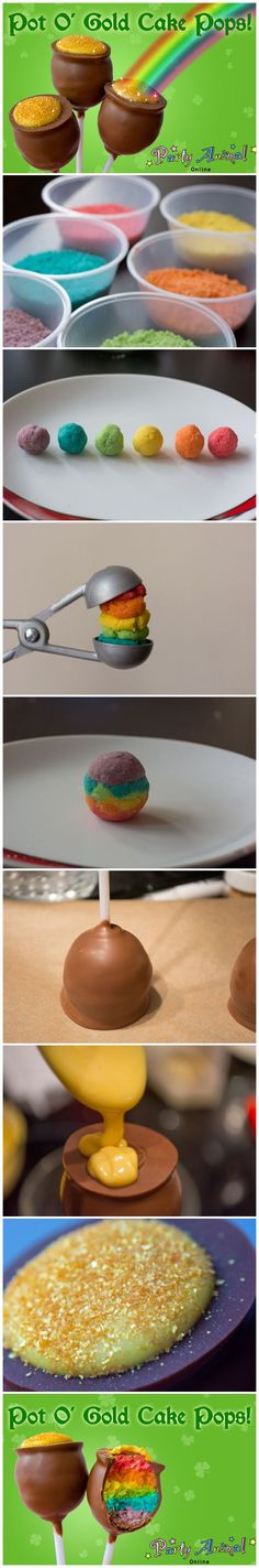 How to make Rainbow Cake Pops, Perfect for St.Patricks Day. We also have a fantastic blog with more detail here: