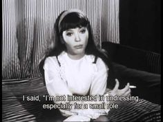 An Interview with the beautiful Anna Karina - she's so adorably bashful when asked about her relationship with Godard.