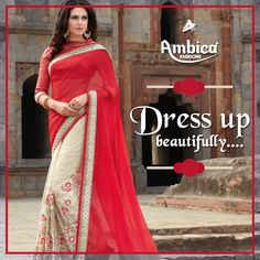 Dress up beautifully in an Ambica Fab Design creation! -- For more details contact us on: 99799-00476 | www.ambicasurat.in #SareesInAmbica #SareesCollection #FashionableSarees #AmbicaCollection