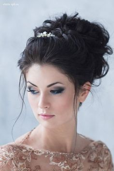 messy wedding updo hairstyle