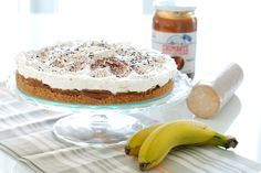 Receta del famoso Banoffee con Thermomix. Si no la conoces te la recomendamos, es una tarta con base de galleta, dulce de leche, plátano y nata.
