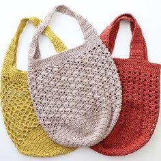Discover thousands of images about YYC Kit - Market Bags in KPC Gossyp DK Organic Cotton Crochet Designs, Crochet Patterns, Shopper Bag, Tote Bag, Crochet Market Bag, Knit Basket, String Bag, Crochet Purses, Cotton Crochet