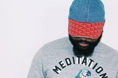 GOYARD Cap - Custom Denim & Red Goyard Strapback Hat worn by DR3Music.com