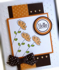 Me, My Stamps and I: Dotted Flowers