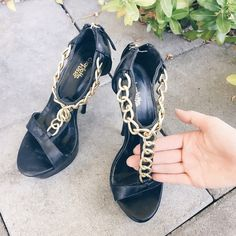 Chain heels Worn maybe once or twice. Very good condition Shoes Heels