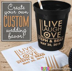 Create your own CUSTOM wedding favors with us! Wedding is the perfect functional favor to serve drinks at your wedding, and guests can take them home to use again and again! Wedding 2017, Fall Wedding, Rustic Wedding, Our Wedding, Dream Wedding, Custom Wedding Favours, Personalized Wedding, Wedding Gifts, Wedding Stuff
