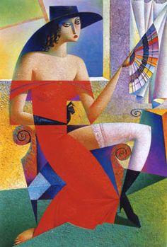 Girl With A Fan 1997  Georgy Kurasov