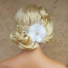 Pince à cheveux de mariée pince à cheveux plume par kathyjohnson3