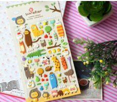 New cute animal garden style 3D sticker/Scrapbook deco/Stationery Sticker/Office & School Supplies