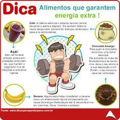 PURA ENERGIA !!  SUPER DICA PRA VOCÊ QUE ESTÁ SE SENTINDO DESANIMADO... FAÇA SUA RECARGA ENERGÉTICA ATRAVEZ DOS ALIMENTOS !!!  #energia #alimentossaudáveis #eucurtoatenas
