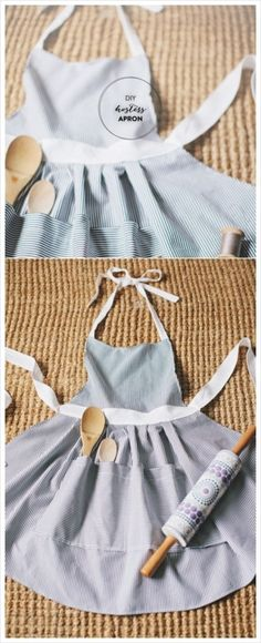Diy Sewing Projects how to make a cute hostess apron. An apron with a pocket for spoons! It would keep my counter cleaner. but the apron would be very messy. Diy Sewing Projects, Sewing Projects For Beginners, Sewing Hacks, Sewing Tutorials, Sewing Crafts, Sewing Patterns, Sewing Tips, Apron Patterns, Sewing Art